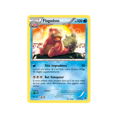 Flagadoss Carte Peu Commune Pv 70 - 20/122 - XY9