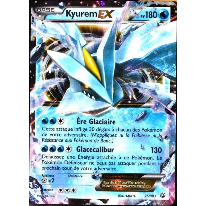 Carte Pokemon Rare Kyurem Ex Holo Full Art Pv 180 25 98 Xy 07 Ori