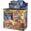 LOT Display 36 Booster XY13 Soleil et Lune + 1 Cahier A4 Pokéball