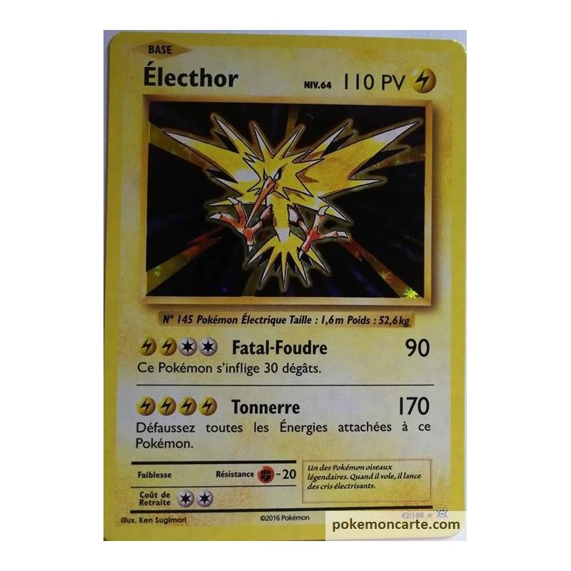 Carte Pokemon Neuve Francaise Electhor 23 108 Xy06 Ciel Rugissant Toys Hobbies Collectible Card Games
