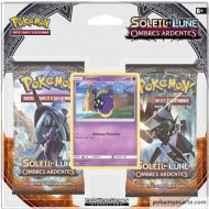 Pack Pokémon 2 boosters SL3 Ombres Ardentes  et Cosmog Holo pv60 SM42