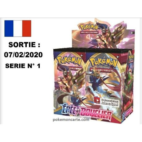 Display 36 boosters Pokémon Epée et Bouclier n°1